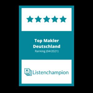 Friedmann Immobilien, Top Makler Deutschland, Listenchampion